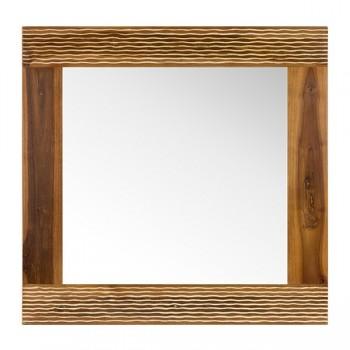 Miroir en teck savanne Natural L75 x  L73 cm