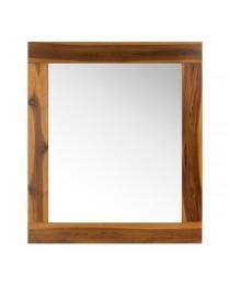 miroir en teck pour salle de bain sirocco vernis natural solo