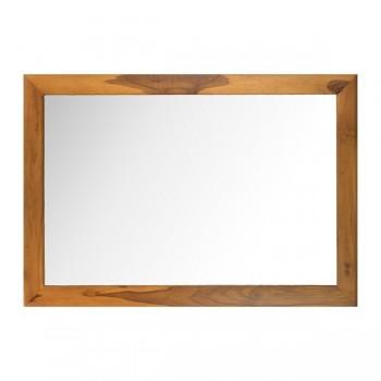 Miroir en teck naturel pour une salle de bain en bois