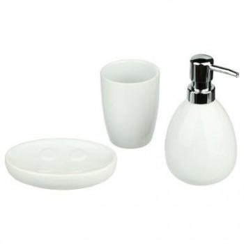 Accessoire salle de bain X 3 Sun Blanc