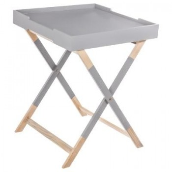 table plateau Hedra Gris