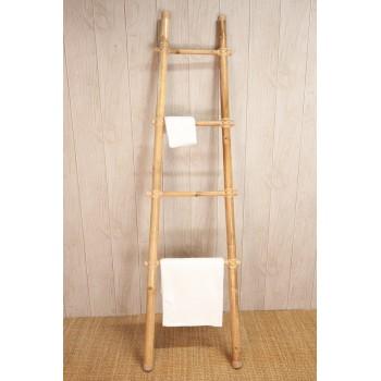 Sèche-serviette en bambou blanc