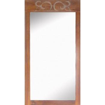 Miroir en teck d'angle Alizée L40xH75 (cm)